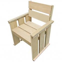 stradeXL Outdoor Chair Impregnated Pinewood