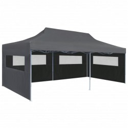 stradeXL Folding Pop-up Partytent with Sidewalls 3x6 m Anthracite