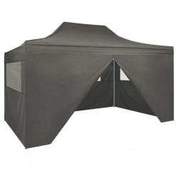 stradeXL Rozkładany namiot z 4 ścianami bocznymi, 3 x 4,5 m, antracytowy