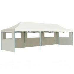 stradeXL Składany namiot z 5 ścianami bocznymi, 3 x 9 m, kremowy