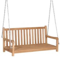 stradeXL Swing Bench Solid Teak 120x60x57.5 cm Brown
