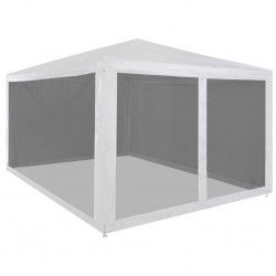 stradeXL Party Tent with 4 Mesh Sidewalls 4x3 m