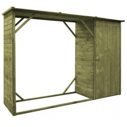 stradeXL Garden Firewood Tool Storage Shed Pinewood 253x80x170 cm