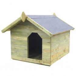stradeXL Buda dla psa z otwieranym dachem, impregnowane drewno sosnowe