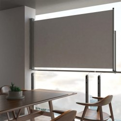 stradeXL Patio Retractable Side Awning 140 x 300 cm Grey