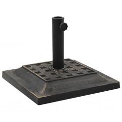 stradeXL Parasol Base Square Polyresin 12 kg Bronze