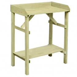 stradeXL Garden Planter Table Impregnated Pinewood 75x40x90 cm