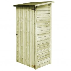 stradeXL Garden Tool Shed Impregnated Pinewood 88x76x175 cm