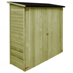 stradeXL Garden Tool Shed Impregnated Pinewood 182x76x175 cm