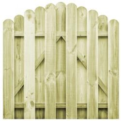 stradeXL Furtka z łukiem, impregnowane drewno sosnowe, 100 x 100 cm