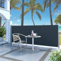 stradeXL Retractable Side Awning 120 x 300 cm Black