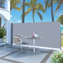 stradeXL Retractable Side Awning 120 x 300 cm Grey