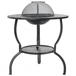 stradeXL Charcoal BBQ Grill Antique Grey 70x67 cm
