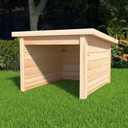 stradeXL Lawn Mower Garage 92x104x59.5 cm Solid Pine Wood 19 mm