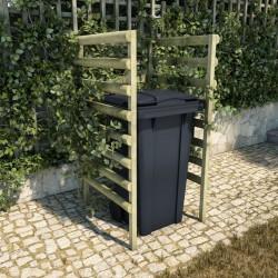 stradeXL Osłona na kosz na śmieci, zielona, 70x80x150 cm, drewno sosnowe