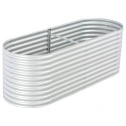 stradeXL Podwyższona donica z galwanizowanej stali 240x80x81 cm, srebrna