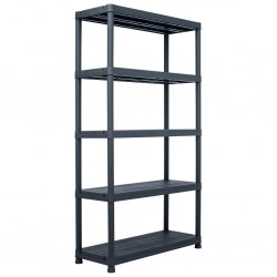 stradeXL Storage Shelf Rack Black 500 kg 100x40x180 cm Plastic