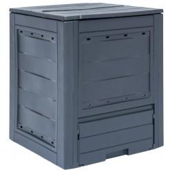 stradeXL Garden Composter Grey 60x60x73 cm 260 L