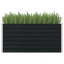 stradeXL Raised Garden Bed Anthracite 160x80x77 cm Galvanised Steel