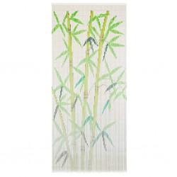 stradeXL Zasłona na drzwi, bambus, 90 x 200 cm