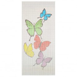 stradeXL Insect Door Curtain Bamboo 90x200 cm