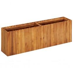 stradeXL Podwyższona donica ogrodowa, 150x30x50 cm, lite drewno akacjowe