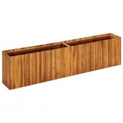 stradeXL Podwyższona donica ogrodowa, 200x30x50 cm, lite drewno akacjowe