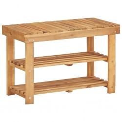 stradeXL Shoe Rack 70x32x46 cm Solid Acacia Wood
