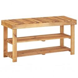 stradeXL Shoe Rack 90x32x46 cm Solid Acacia Wood