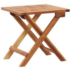 stradeXL Składany stolik ogrodowy, 40x40x40 cm, lite drewno akacjowe