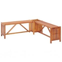 stradeXL Ogrodowa ławka narożna z donicą, 117x117x40 cm, drewno akacjowe