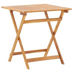 stradeXL Składany stół ogrodowy, 70 x 70 x 75 cm, lite drewno akacjowe