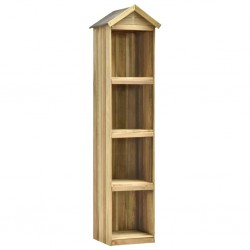 stradeXL Garden Tool Shed 36x36x163 cm Impregnated Pinewood