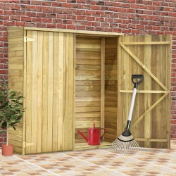 stradeXL Garden Tool Shed 163x50x171 cm Impregnated Pinewood