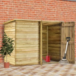 stradeXL Garden Shed House 232x110x170 cm Impregnated Pinewood