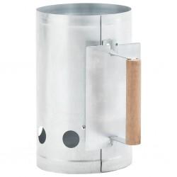 stradeXL Charcoal Grill Chimney Starter Galvanised Steel
