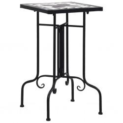 stradeXL Mosaic Side Table Black and White Ceramic