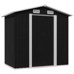 stradeXL Garden Storage Shed Anthracite Steel 204x132x186 cm