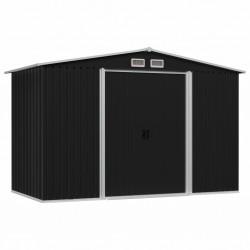 stradeXL Garden Storage Shed Anthracite Steel 257x205x178 cm