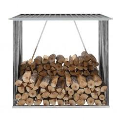 stradeXL Wiata na drewno, stal galwanizowana, 163x83x154 cm, antracytowa