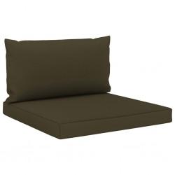 stradeXL Poduszki na sofę z palet, 2 szt., kolor taupe, tkanina