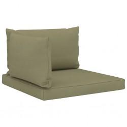 stradeXL Poduszki na sofę z palet, 3 szt., beżowe, tkanina