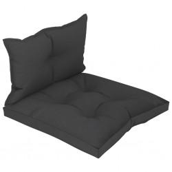 stradeXL Poduszki na sofę z palet, 2 szt., czarne, tkanina