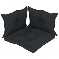 stradeXL Poduszki na sofę z palet, 3 szt., antracytowe, tkanina