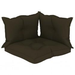 stradeXL Poduszki na sofę z palet, 3 szt., kolor taupe, tkanina