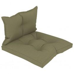 stradeXL Poduszki na sofę z palet, 2 szt., beżowe, tkanina