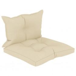stradeXL Poduszki na sofę z palet, 2 szt., kremowe, tkanina