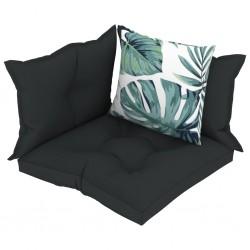 stradeXL Poduszki na sofę z palet, 4 szt., antracytowe, tkanina