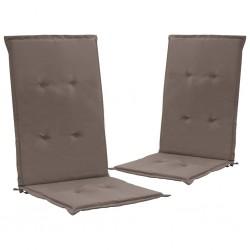 stradeXL Poduszki na krzesła ogrodowe, 2 szt., taupe, 120x50x3 cm
