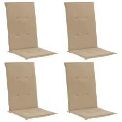 stradeXL Poduszki na krzesła ogrodowe, 4 szt., beżowe, 120x50x4 cm